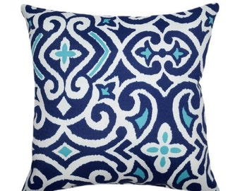 Dwell Studio Damask Marine INDOOR  Decorative Floral Throw Pillow Free Shipping