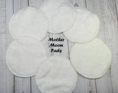 Organic Bamboo Nursing Pads, Washable Nursing Pads, Eco Friendly Waterproof Nursing Pads, Choose your quantity!