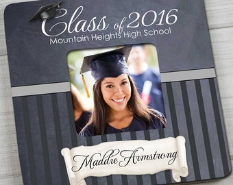 """PHOTO FRAME Graduation """"Class of..."""" Picture Frame for Grad - Great End of the School Year Graduation Gift PF0063"""