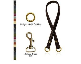 """ON SALE! Leather Handbag Strap - 1/2"""" Wide - Choose Leather Color, Length & Gold or Antique Brass Hooks"""
