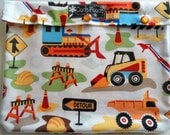 Tractor Trucks Clear Front Case Baby Toddler First Aid Kit Diaper Bag Organizer Hospital Room Travel 7x9 Ouch Pouch, Meds or Personalize