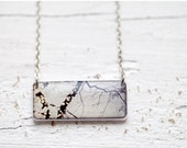 Winter Bokeh necklace - Photo pendant - Tree branches (N075)