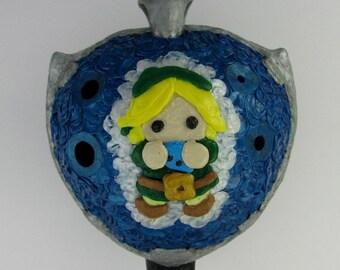 Legend of Zelda Link 3Doodled plastic english pendant ocarina DTPD