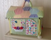 Plush Mouse Family Playhouse with Furniture