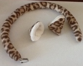 Clip on Jaguar Tail and Ear Package