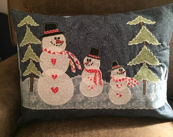 Happy Snowman decorative pillow