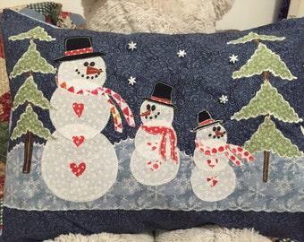Happy Snowman decorative pillow
