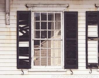 Decay Photography, Martha's Vineyard, Abandoned Building, Coastal Photography, Rustic Window Photography, Halloween Decor, Halloween Art