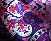 Purple Paisley Silk Square Scarf