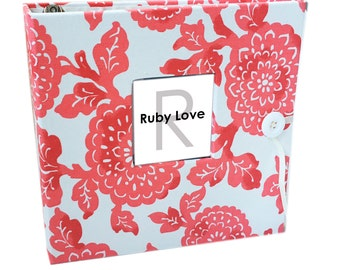 BABY BOOK | Modern Red Mums Baby Book | Ruby Love Modern Baby Memory Book