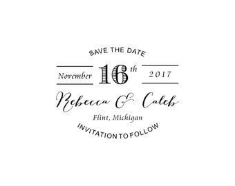 Timeless Save the Date Stamp