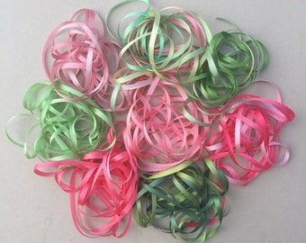 Crepe Myrtle Mix - 16 metres of 3.5mm silk ribbon