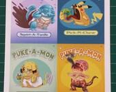 Puke-A-Mon Series 1 Collage