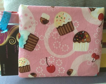 Cupcakes and Cherry Velcro Pouch/Snack Bag