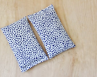 Deal of the Day - Modern Lavender Bags, Bright Cobalt Blue Polka Dot, Organic Lavender Scent, Housewarming Gifts for Women