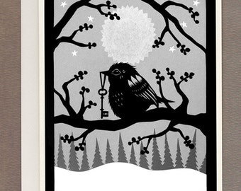 Key To Winter - Greeting Card