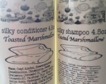 Milky Shampoo and Silky Conditioner Set 1.5oz, 4.5oz, 9oz and 18oz You Pick Size & Scent Photo: Birthday Cake