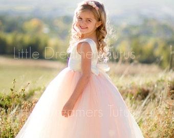 NEW! The Juliet Dress in Ivory Blush - Flower Girl Tutu Dress