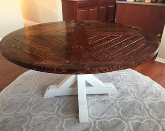 Solid wood round dining table