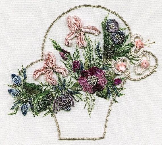 Spring Basket Brazilian Embroidery Kit 1033 EdMar