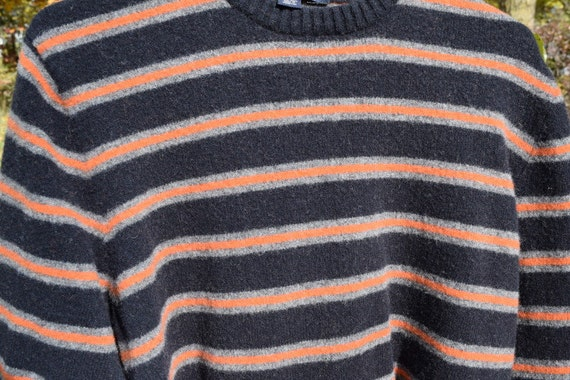 Diy Supply Felted Wool Sweater Navy And Orange