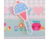 Pastel Planner Clip Glitter Ice Cream Cone Kawaii Planner Accessories Page Marker Bookmark Planner Paper Cip