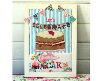 Celebration Cake Applique picture pdf downloadable pattern