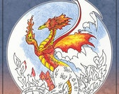 DRAGON Coloring Book Fantasy by Amy Brown