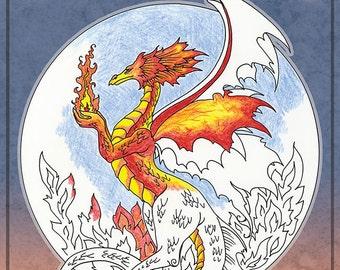 DRAGON Coloring Book #6 Fantasy by Amy Brown