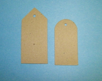 Tags  Kraft Chipboard Die Cut Pack of 2 (sets) DIY Gifts Christmas Special Occaison