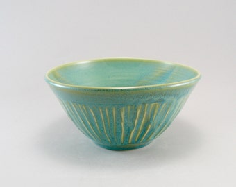 Serving Bowl, Pottery Bowl, Ceramic Bowl, Celadon Bowl, Fruit Bowl, Ready to Ship