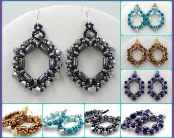 PDF Cobblestone Earrings Jewelry Making Tutorial (INSTANT DOWNLOAD)