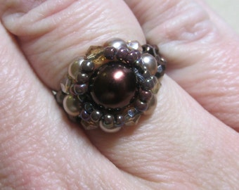 Halo Ring KIT (Brown) Jewelry Making