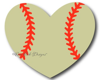 Baseball Softball Heart SVG File, PDF DXF, eps, ai, png, jpg for Cameo svg File for Cricut & other electronic cutters