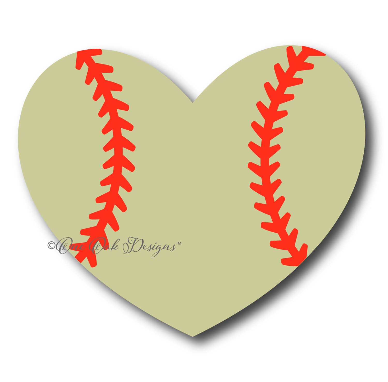 Baseball Softball Heart SVG File PDF DXF Eps Ai Png Jpg