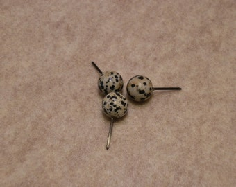 Medium Dalmation Jasper spheres - Medium weight
