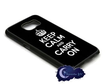 Keep Calm and Carry On, Black Case for the Samsung Galaxy S Models