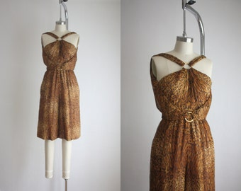 1960s leopard silk jumpsuit