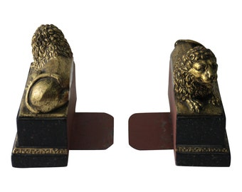 Vintage Pair of Lion Bookends