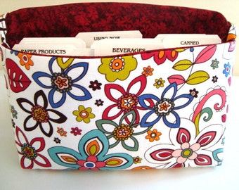 40 % Off Coupon Organizer / Budget Organizer Holder - Attaches To Your Shopping Cart / Swirly Gig Floral