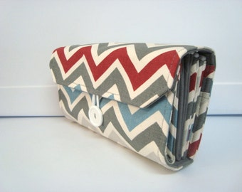 Cash Envelope Wallet  / Dave Ramsey System / Zipper Envelopes - Strom Chevron