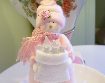 MADE TO ORDER....Catch a Fallin' Star... Snow Girl....Cute!!!