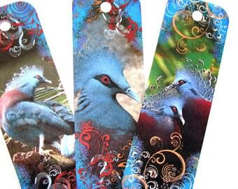 Blue Bird Bookmarks,Set Of 8,Bird Bookmarks,Book Lovers Gift,,Book Accessories,Thank You Gift,Literary Gifts,Book Nerd,Book Reader