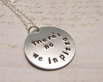 There's No WE in Pizza Necklace. Pizza Lover. Foodie. Friendship. Love