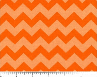 ORANGE CHEVRON Fabric - quilt fabric - yardage - bolt - orange fabric - cotton