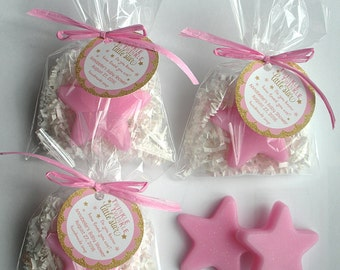 Twinkle Twinkle Little Star Favors Nursery Rhyme Baby Shower All Star Party Favors Moon and Stars Favors (20 complete favors with tags)