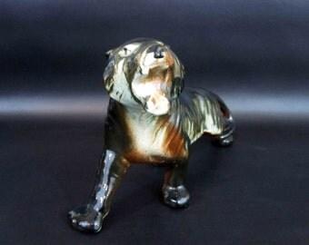 Vintage 1950's Ceramic Tiger 12 in. Long / Retro Home Decor Piece