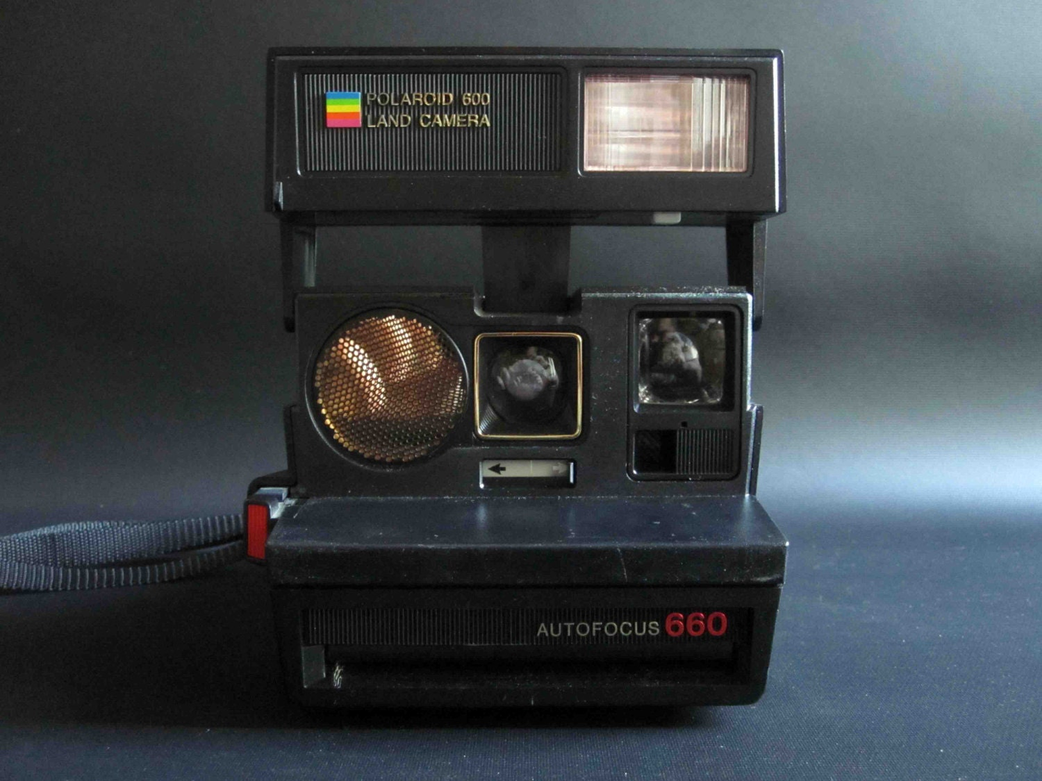 vintage polaroid autofocus sun 660 land camera instant film. Black Bedroom Furniture Sets. Home Design Ideas