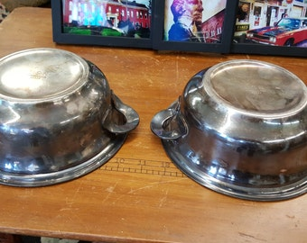 Two International Silver Co. US Navy Bowls/Military Collectibles/Silverplate from Rustysecrets