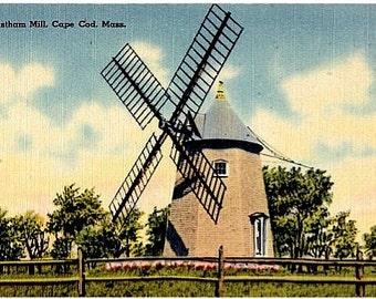 Cape Cod Vintage Postcard - The Eastham Windmill (Unused)